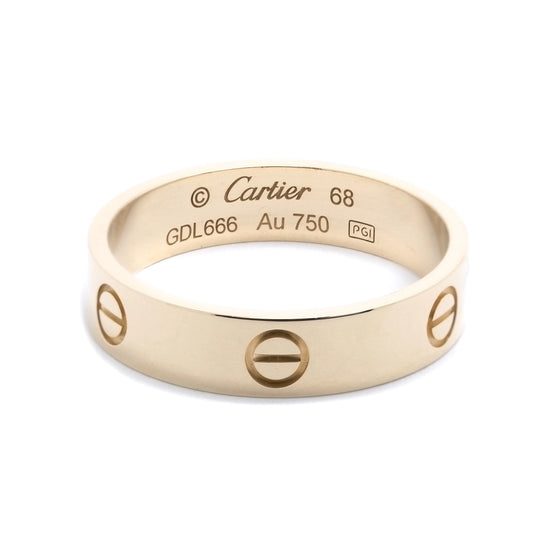 Cartier 18k Yellow Gold Love Ring Men's Jewellery Cartier