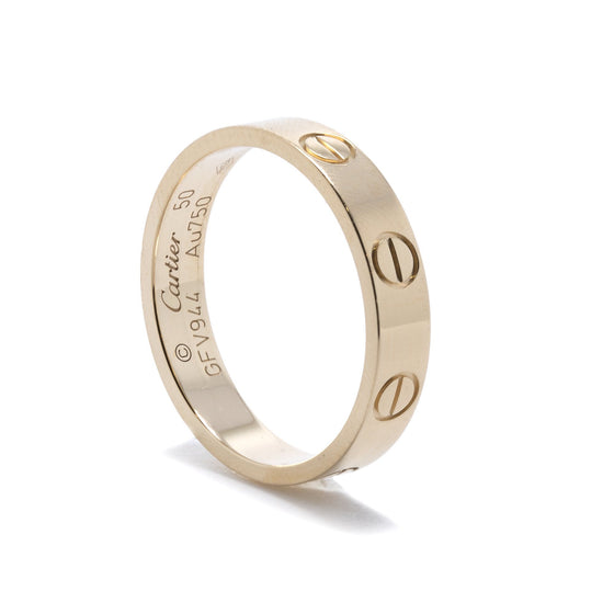 Cartier 18k Yellow Gold Love Wedding Band Ring Rings Cartier