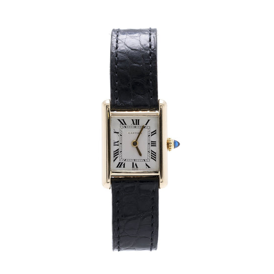 Cartier 18k Yellow Gold Tank Watch Watches Cartier