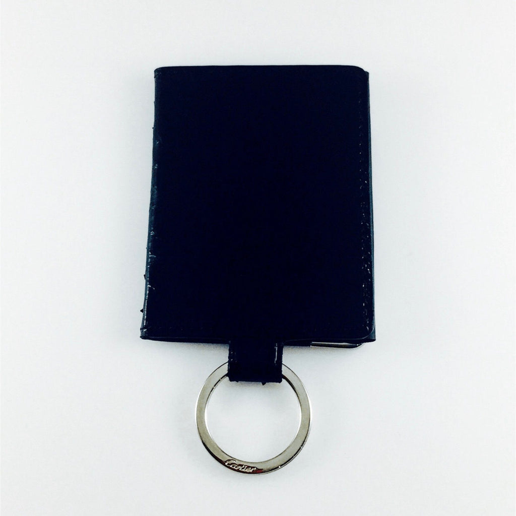 Cartier Black Python Photo Case Key Ring - Accessories