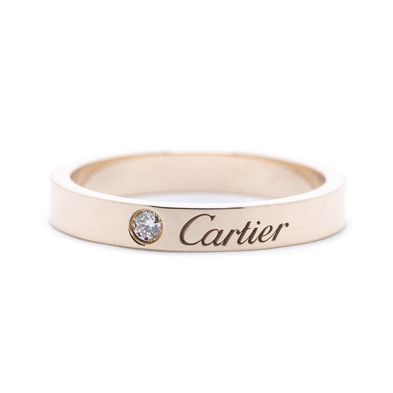 Cartier C de Cartier Diamond Wedding Band Ring Rings Cartier