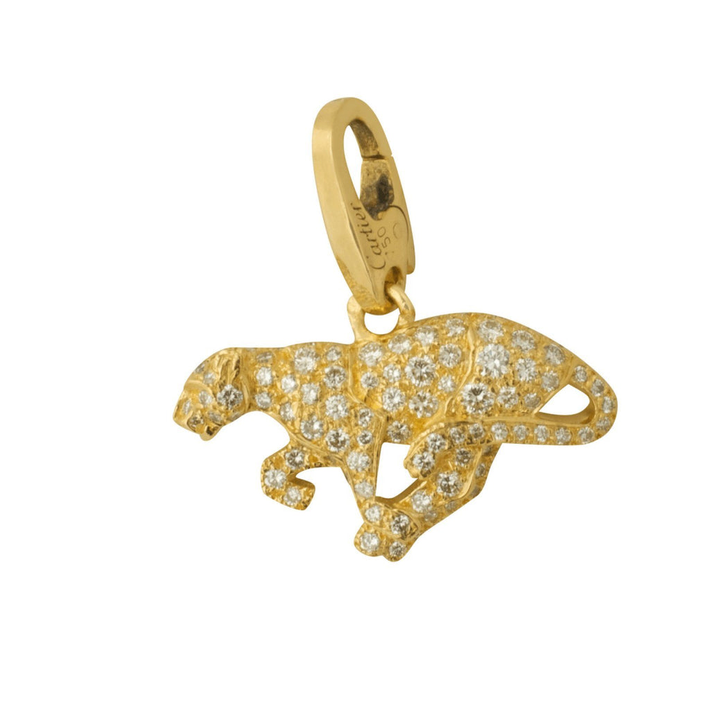 Cartier Diamond Panther Charm/pendant - Charms & Pendants