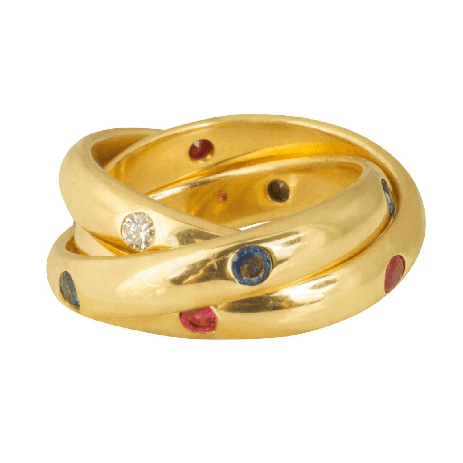 double img gold c ring band modaselle cartier white rings
