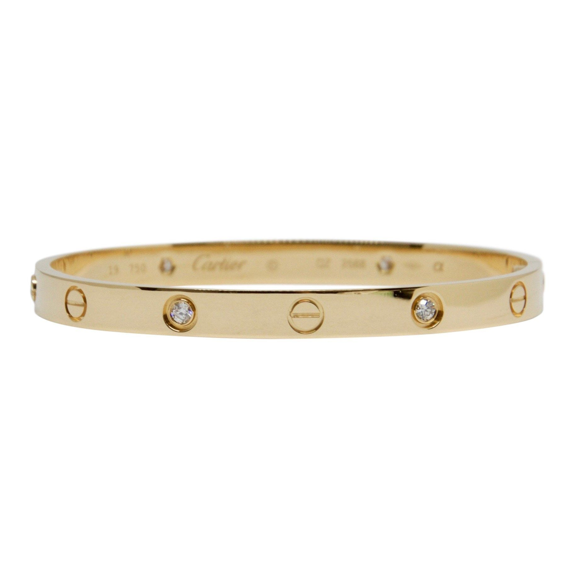 86c7a408b9424 Cartier Love Bracelet with 4 Diamonds