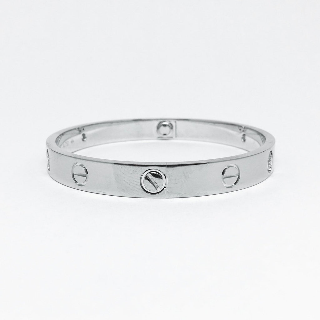 Cartier Love Bracelet With 4 Diamonds - Bracelets