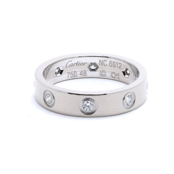 Cartier Love Wedding Band with 8 Diamonds Rings Cartier