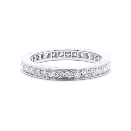Cartier Platinum Diamond Eternity Band Ring Rings Cartier