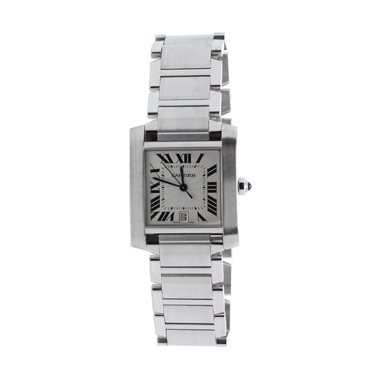 Cartier Tank Francaise Watch, Large Model w/ Box Watches Cartier