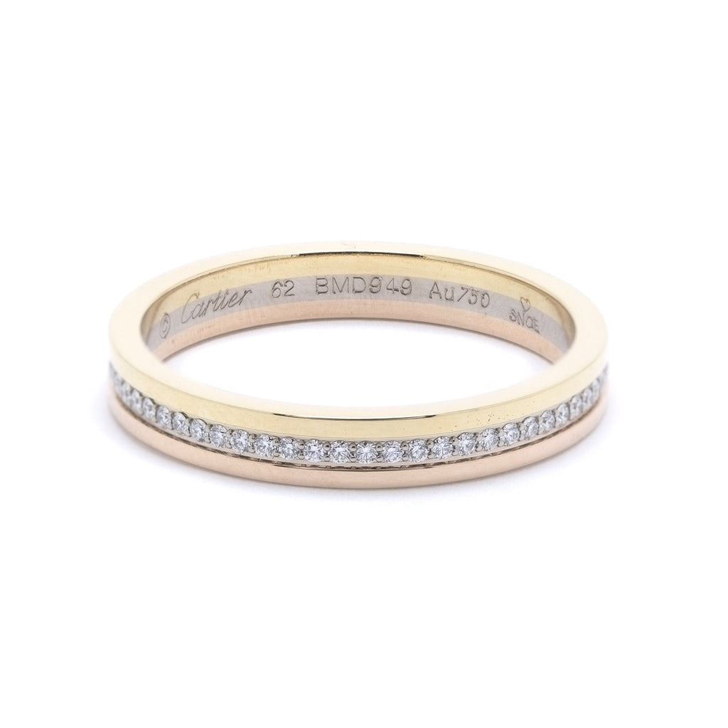 Cartier Trinity Diamond Wedding Band Ring Men's Jewellery Cartier