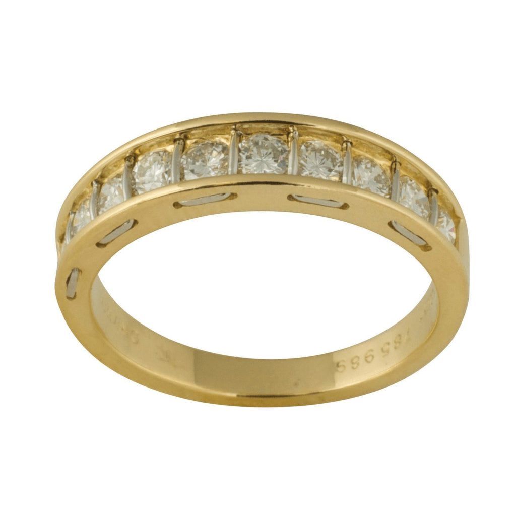 Cartier Vintage Channel-Set Diamond Band Ring Rings Cartier