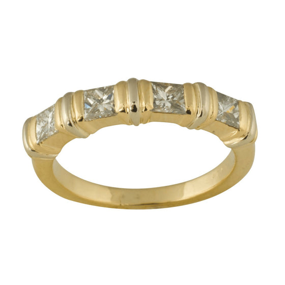 Cartier Vintage Channel Set Diamond Band Ring - Rings