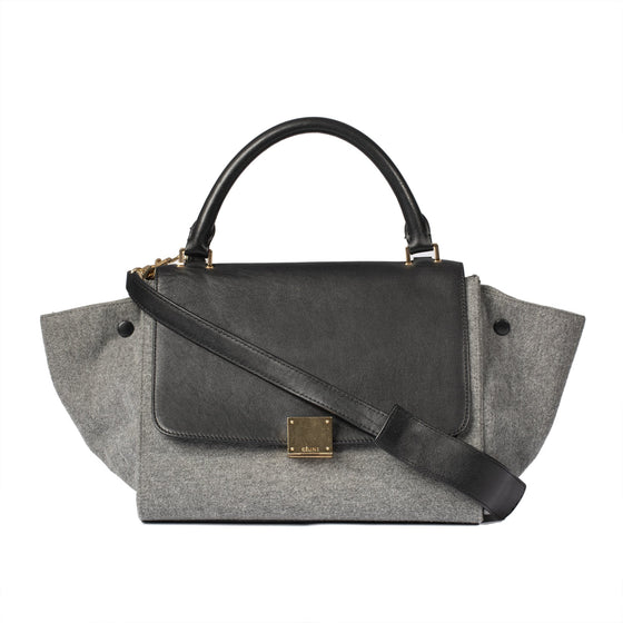 Celine Small Wool Trapeze Bag Bags Celine