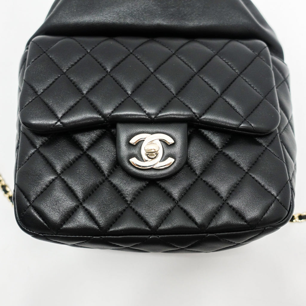 Chanel 2016 Small Black Lambskin Backpack In Seoul - Bags