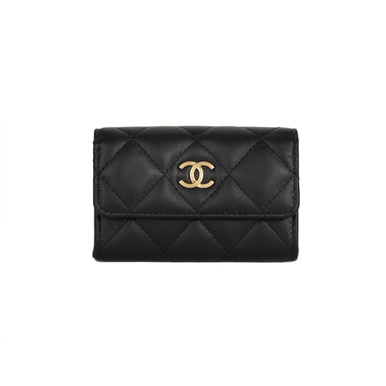 Chanel 2019 Black Lambskin Classic Card Holder w/ Box Accessories Chanel