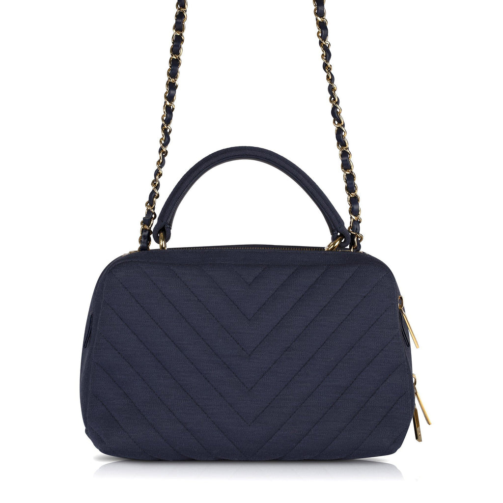Chanel 2019 Small Chevron Jersey Bowling Bag Bags Chanel