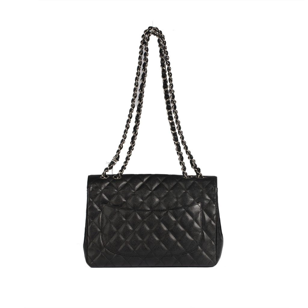 Chanel Black Caviar Classic Jumbo Single Flap Bag Bags Chanel
