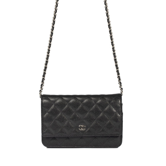 Chanel Black Caviar Classic Wallet on Chain Bags Chanel