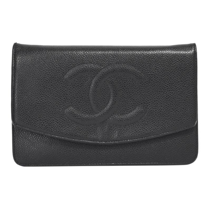Chanel Black Caviar Timeless WOC Bags Chanel