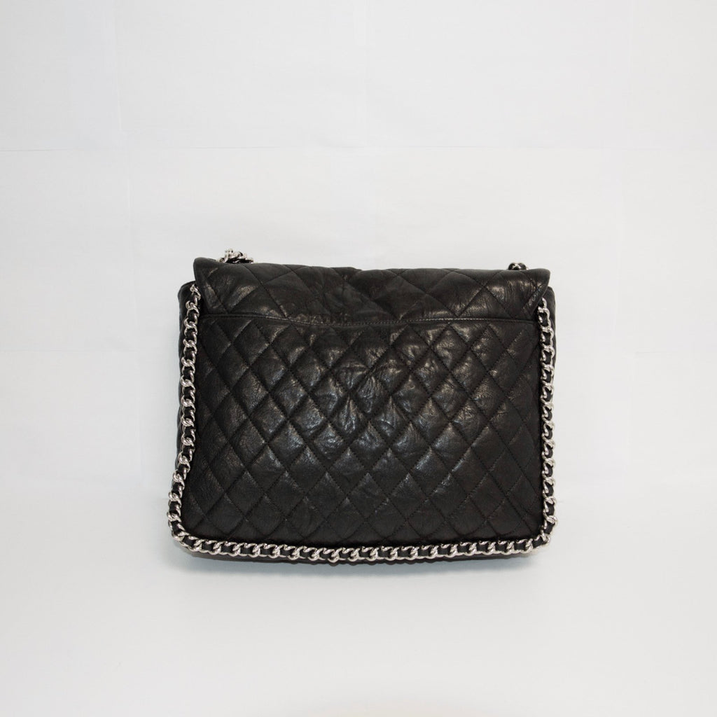 Chanel Black Chain Around Maxi Bag Bags Chanel