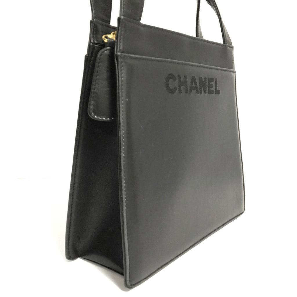 Chanel Black Medium Lambskin Shopper Bags Chanel