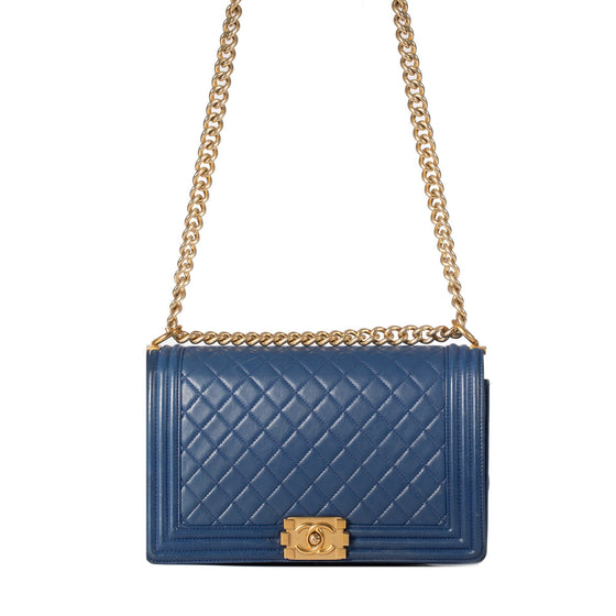 Chanel Blue Large Boy Bag Bags Chanel