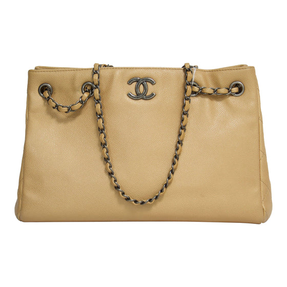 Chanel Camel Shopping Bag Bags Chanel