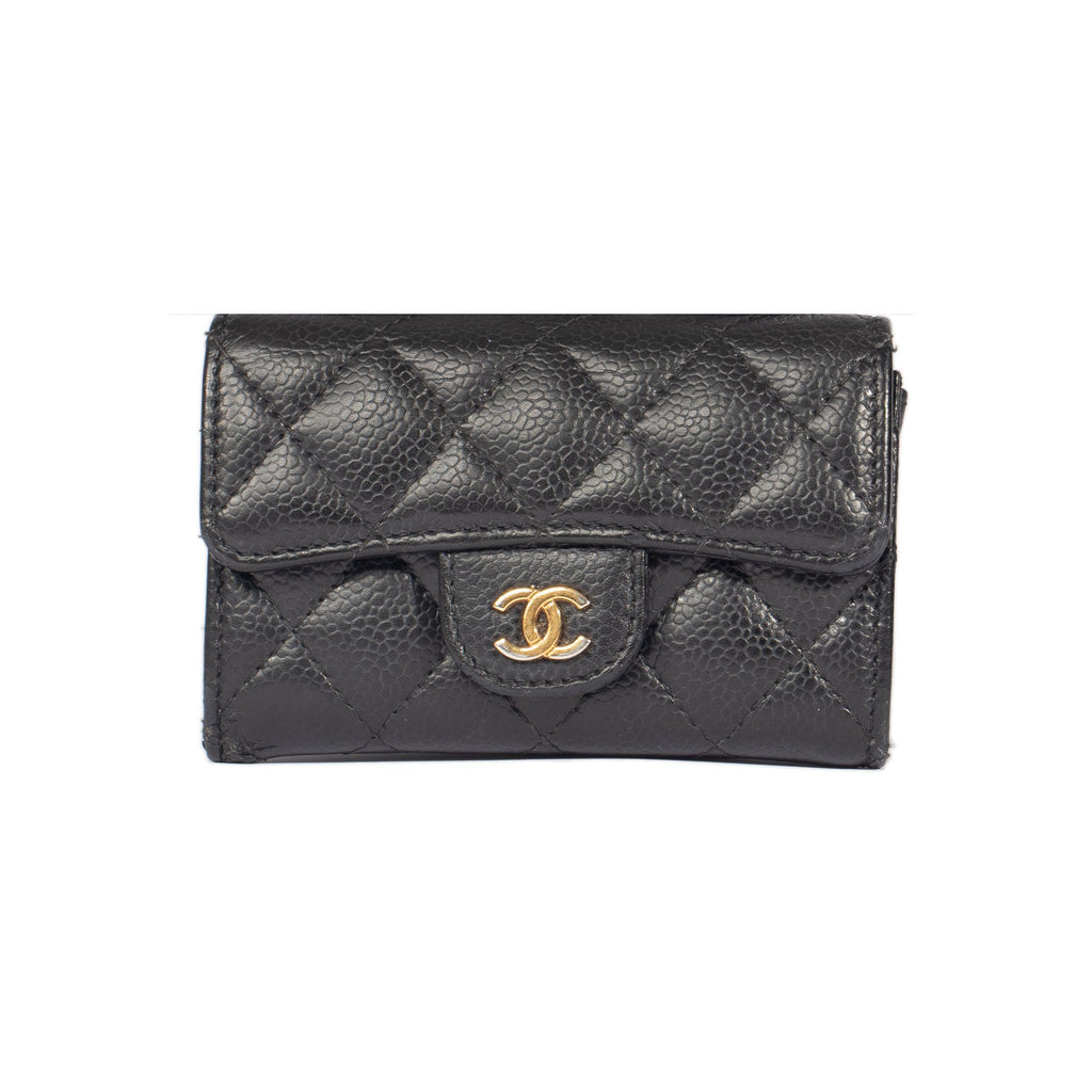 Chanel Caviar Classic Card Holder Wallets Chanel