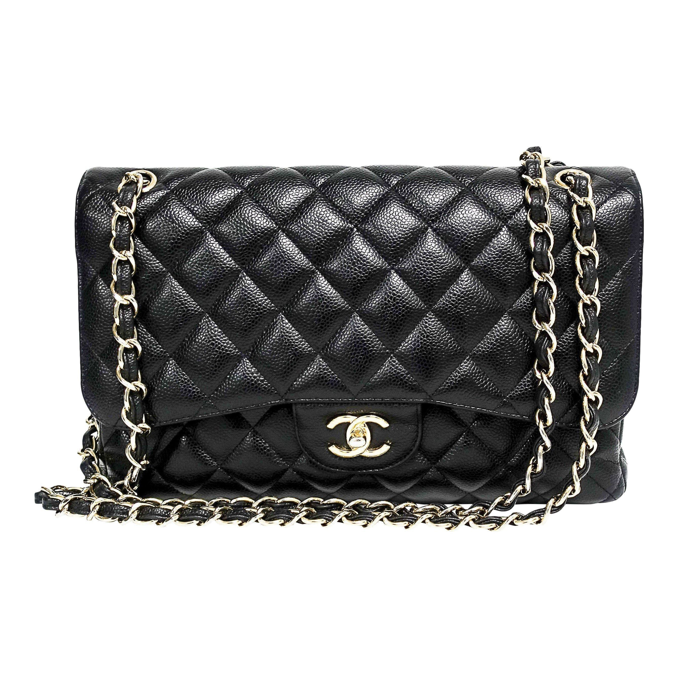 8d4d709d5f75 Chanel Caviar Classic Jumbo Double Flap Bag– Oliver Jewellery