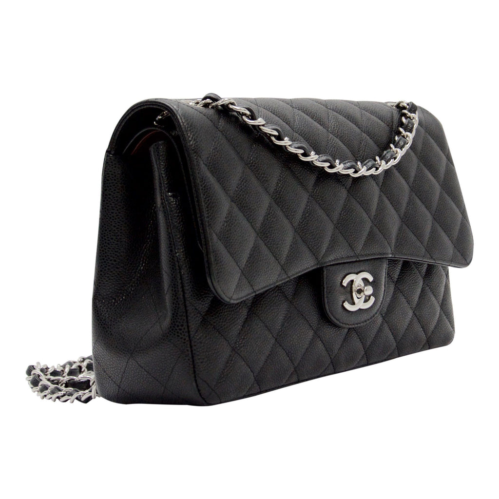 Chanel Caviar Classic Jumbo Double Flap Bag Bags Chanel