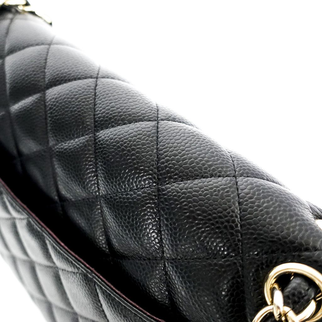 Chanel Caviar Classic Jumbo Double Flap Bag - Bags