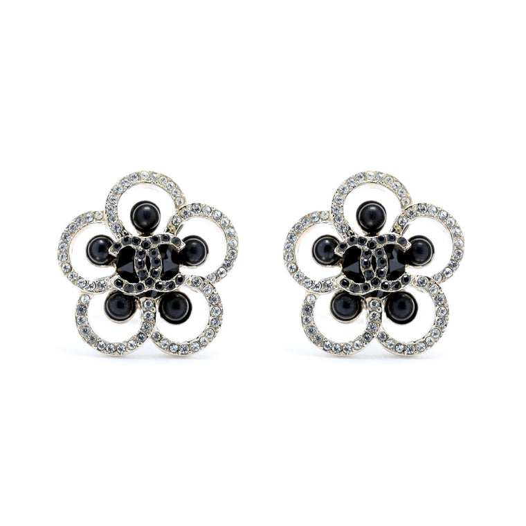 Chanel CC Camelia Earrings Earrings Chanel