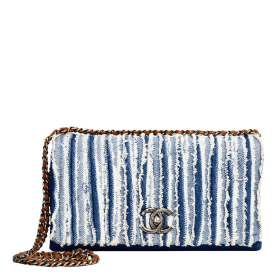 Chanel Denim Fringed Flap Bag Bags Chanel