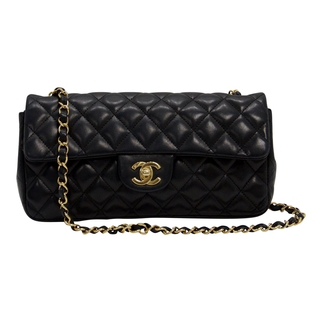 Chanel East West Quilted Flap Bag Bags Chanel