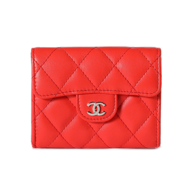 Chanel Lambskin Classic Card Holder Wallets Chanel