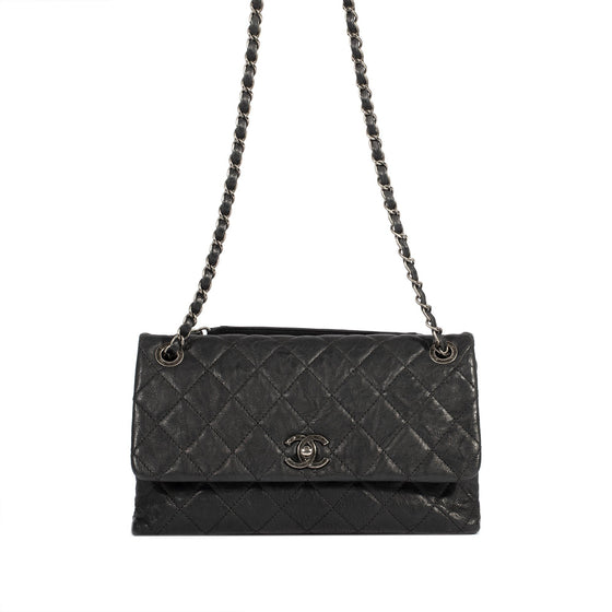 Chanel Limited Edition Medium Aged Calfskin CC Single Flap Bag Bags Chanel