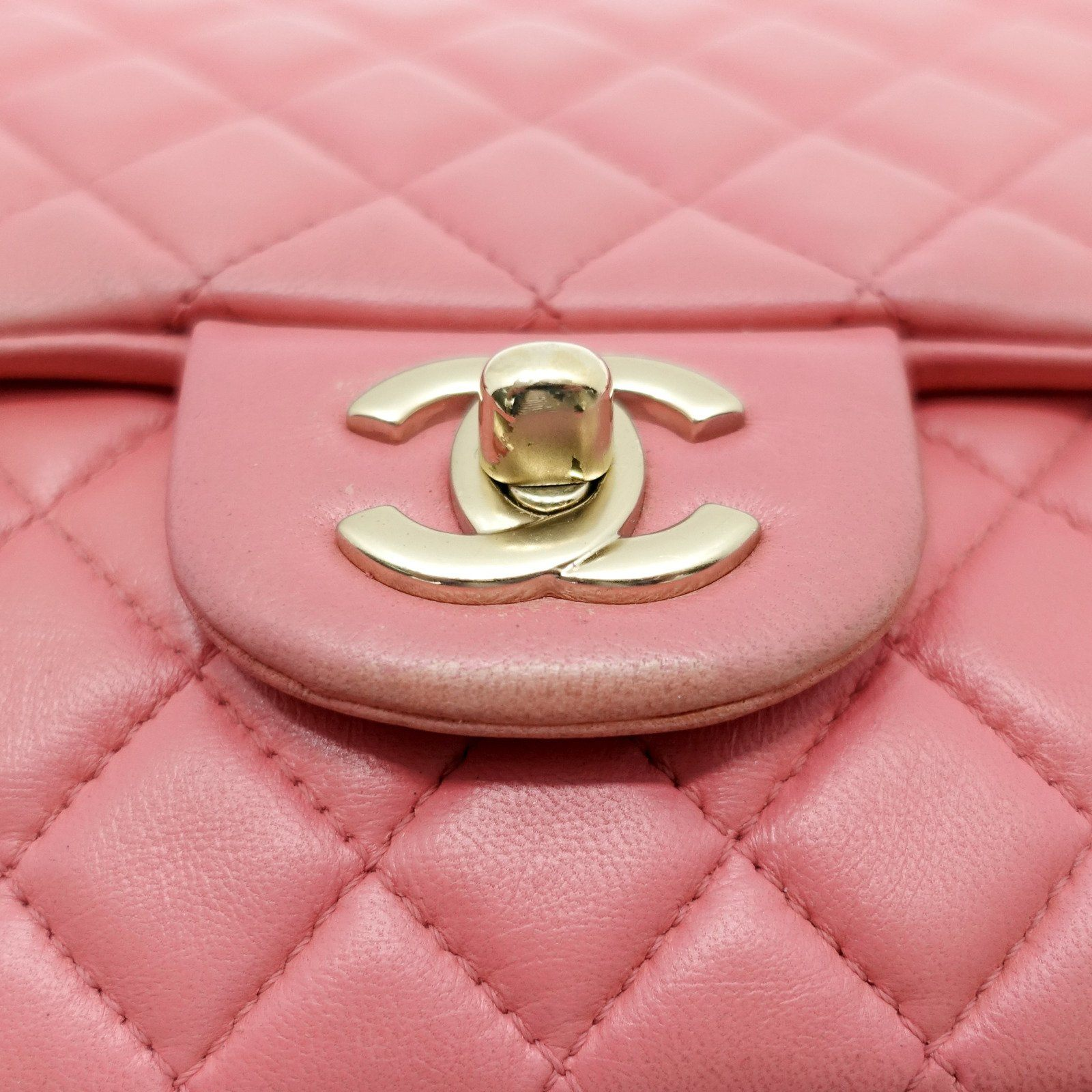 950f7842836f ... Chanel Pink Quilted Lambskin Leather Valentine Flap Bag - Bags ...