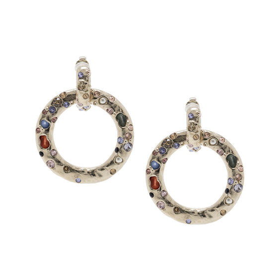 Chanel Resin & Strass Circle Earrings Earrings Chanel