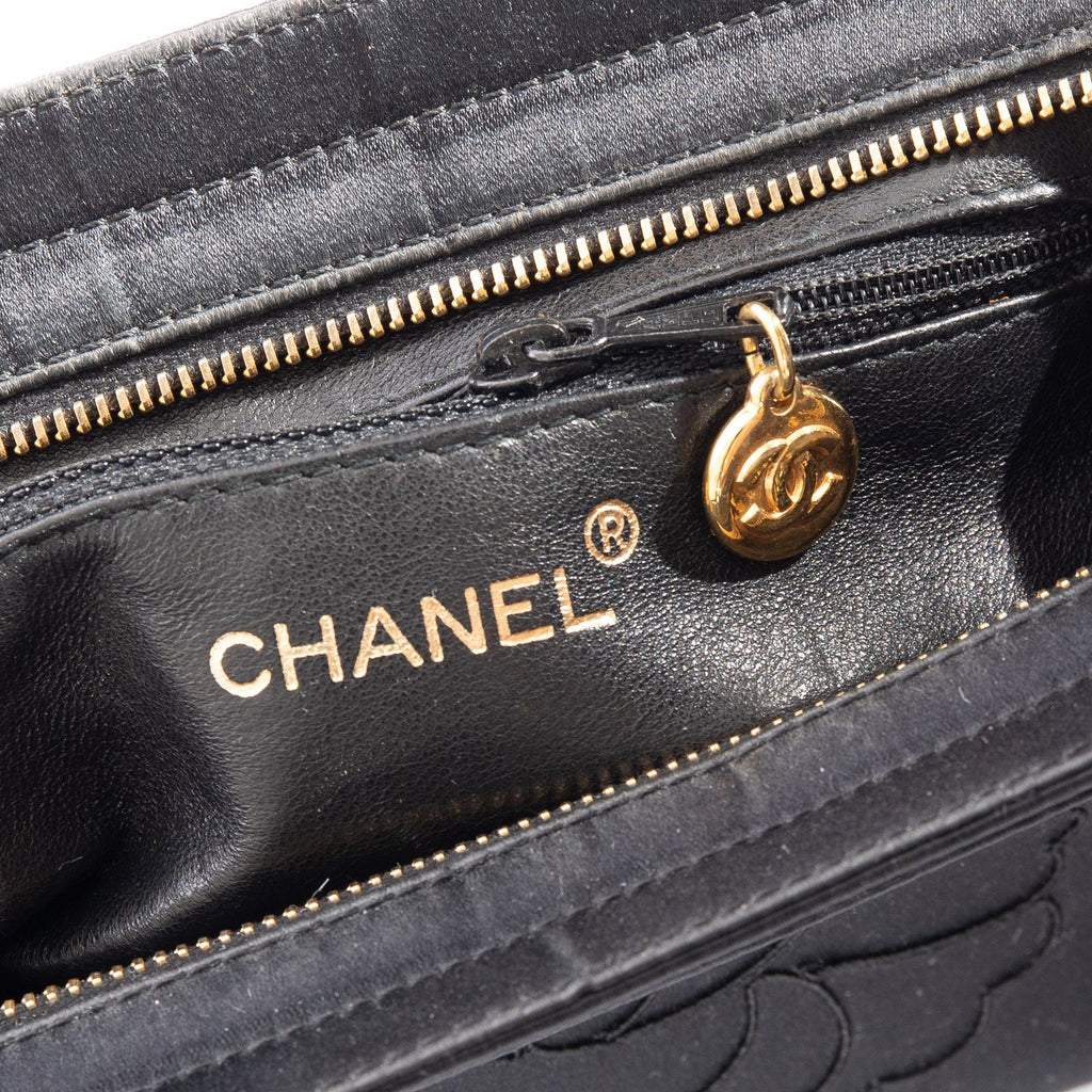 Chanel Satin Camellia Evening Bag Bags Chanel