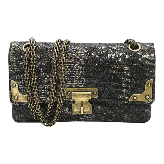aa0b26597faa Chanel Special Edition Gray Coated Lacquered Tweed Crossbody Bag Bags Chanel