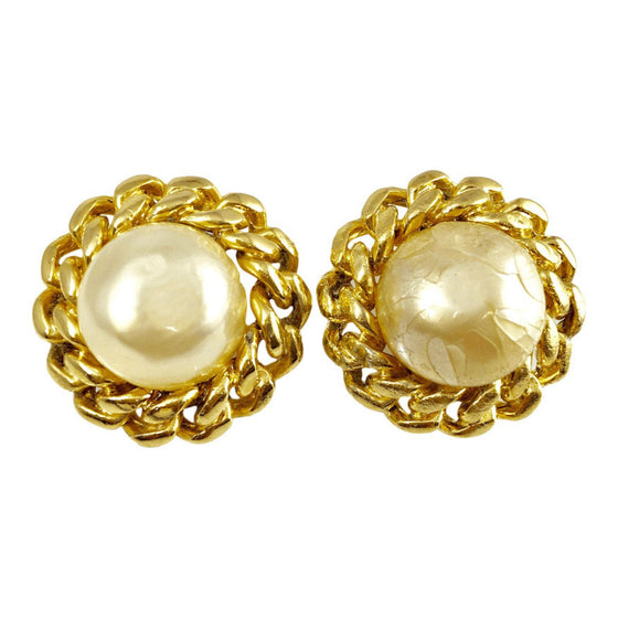 Chanel Vintage Pearl Clip-On Earrings - Earrings