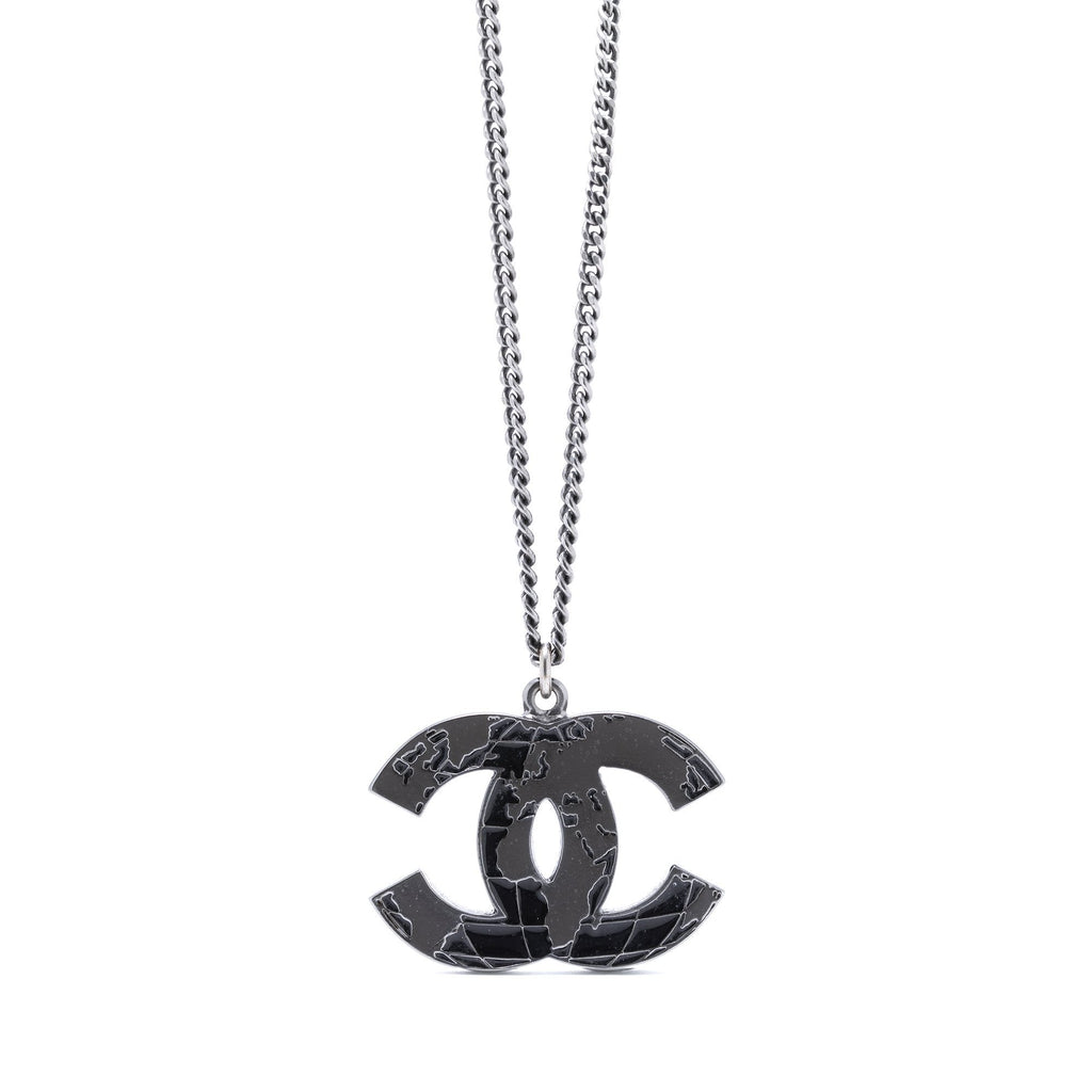 Chanel World Map CC Pendant Necklace Necklaces Chanel