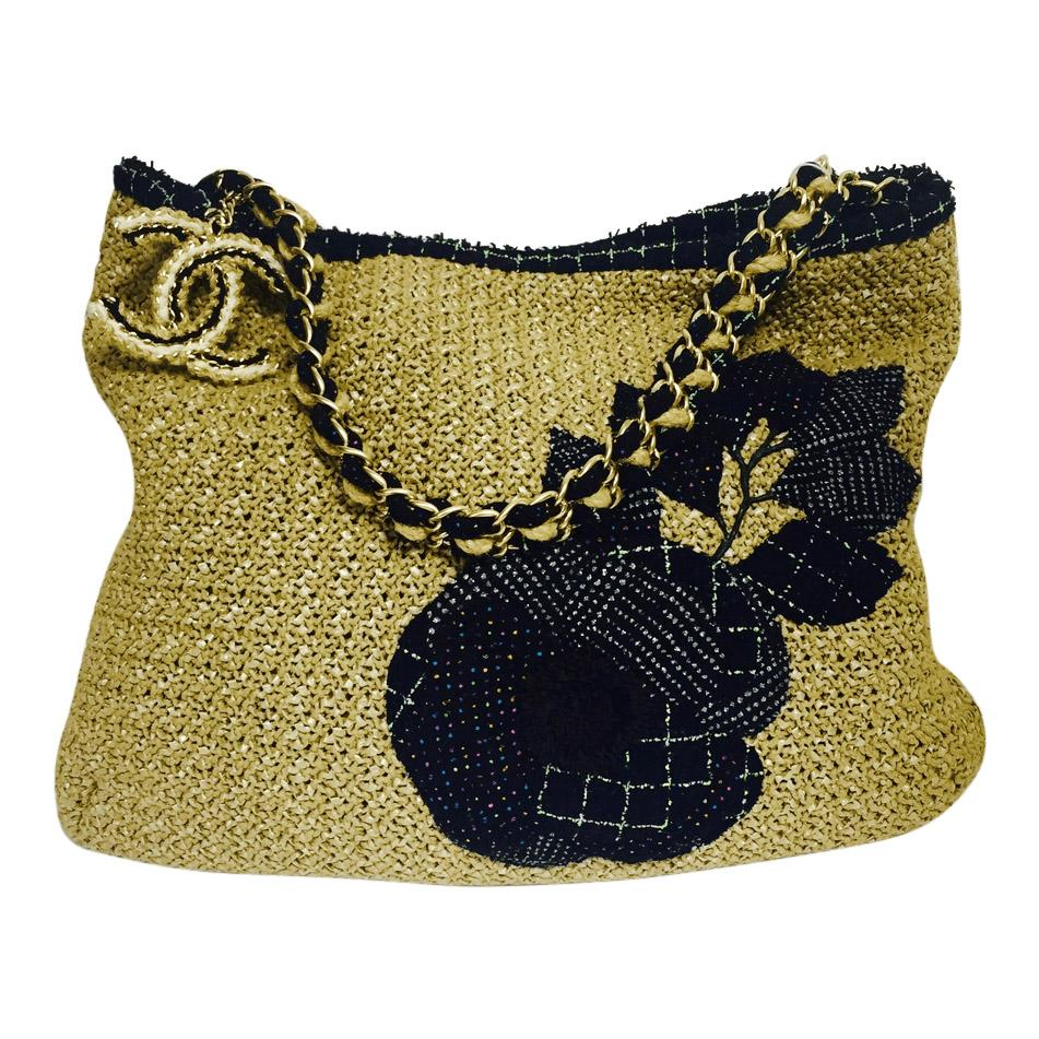 Chanel Woven Small Tote Bags Chanel