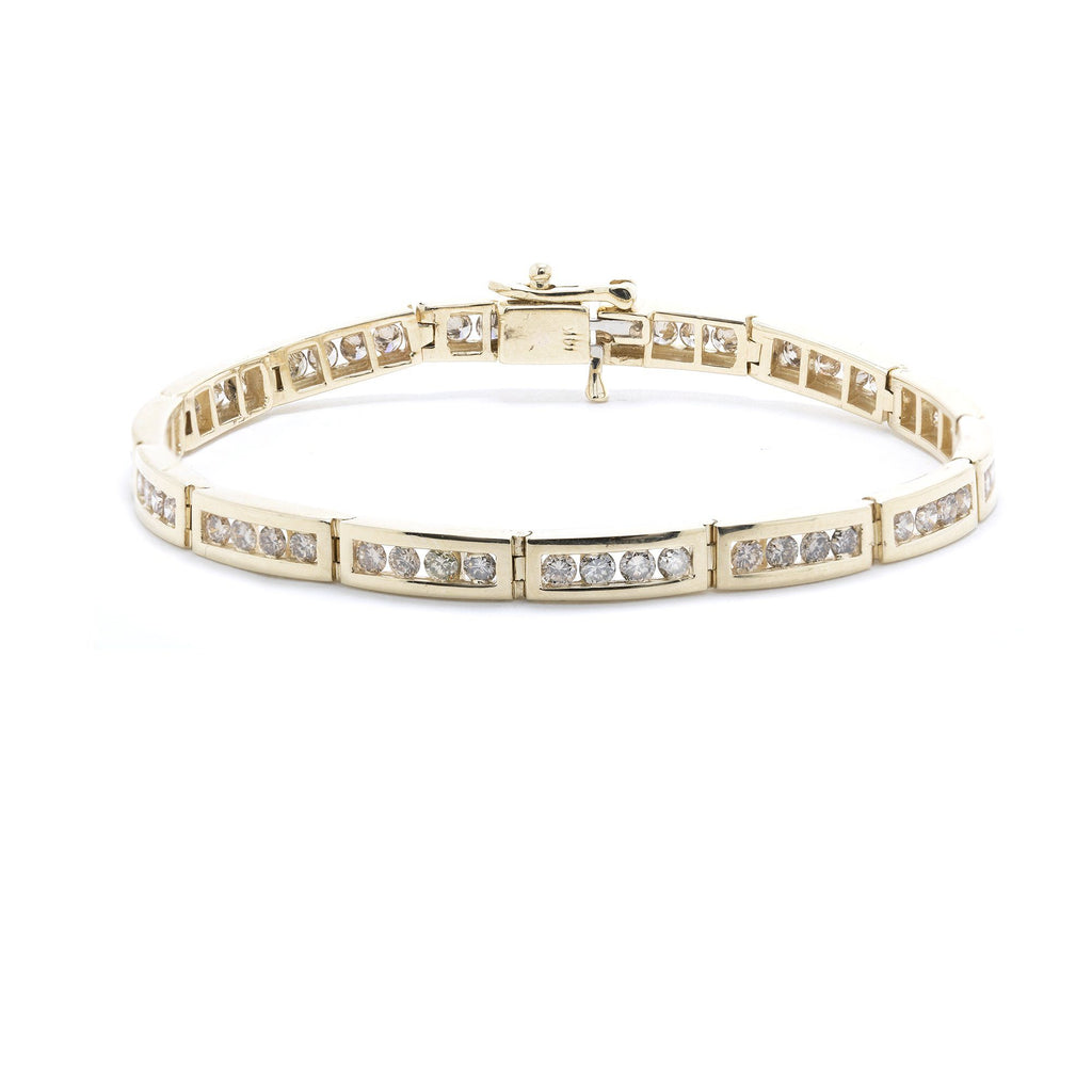 Channel-Set Diamond Link Bracelet Bracelets Miscellaneous