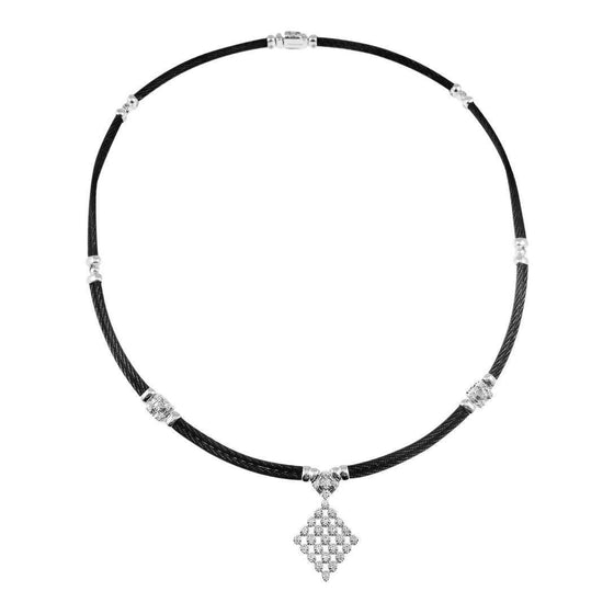 Charriol Celtic Noir Diamond Pendant Necklace Necklaces Charriol