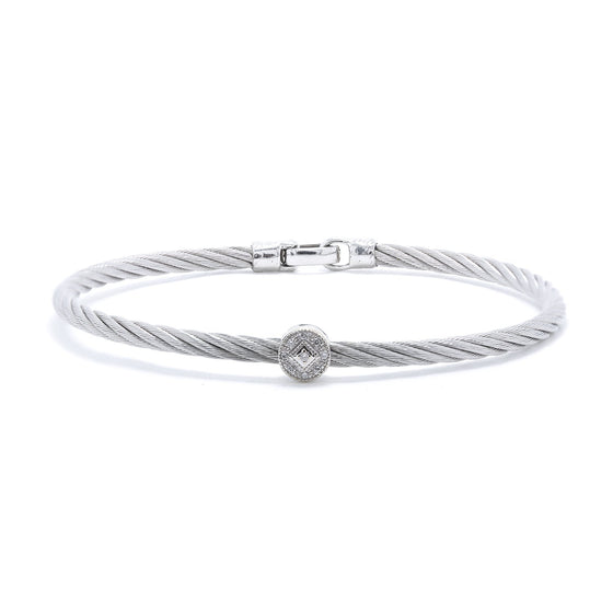 Charriol Diamond Cable Station Bracelet Bracelets Charriol