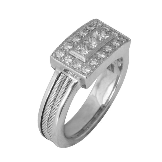 Charriol Flamme Blanche Diamond Ring Rings Charriol