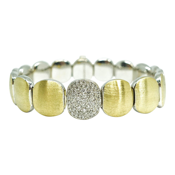 Chimento 2-Tone Bracelet with Pave Diamonds Bracelets Miscellaneous
