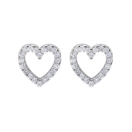 Chimento Diamond Heart Earrings Earrings Miscellaneous