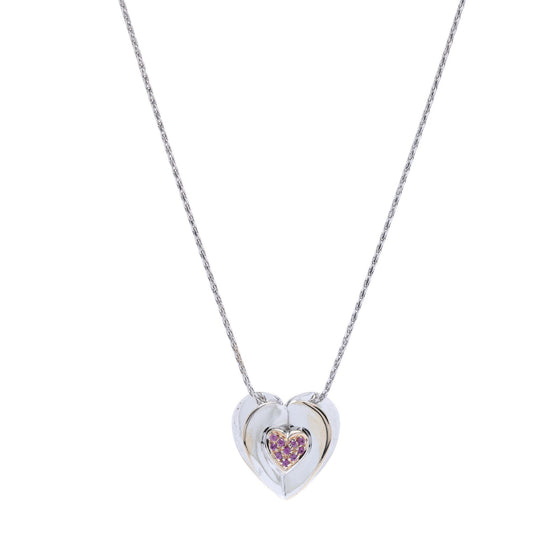 Chimento Heart Pendant Necklace with Rubies Necklaces Miscellaneous