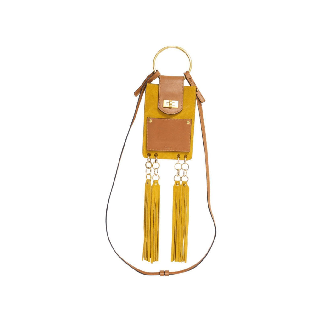 Chloe Brown Jane Suede Mini Bracelet Bag Bags Chloe